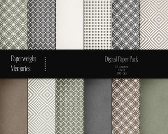 ONLY 1.99 USD - Paper Pack of the Month -  Elements of Nature - digital patterned paper