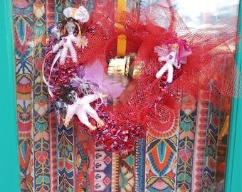 Voodoo doll wreath
