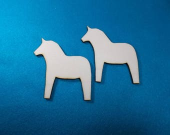 Dala Horse, Wood, 2 pcs (10-0028B)