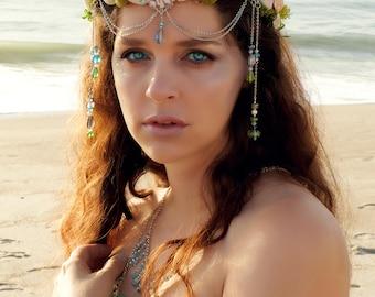 Mermaid Crown, Mermaid Tiara, Mermaids, Mermaid Circlet, Mermaid Headband, Cruelty-Free, Shell Crown, Seashell Crown, Beach Wedding