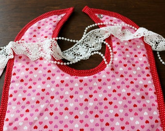 Love Hearts Bib