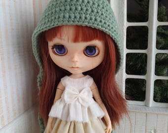 Sweet Dreams collection - green gnome hat for Blythe