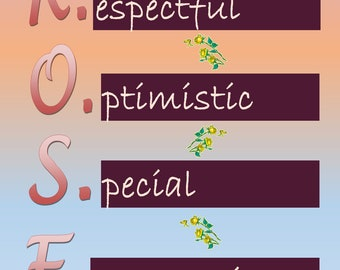 Special Nameplate - Rose - Printable Downloadable Design