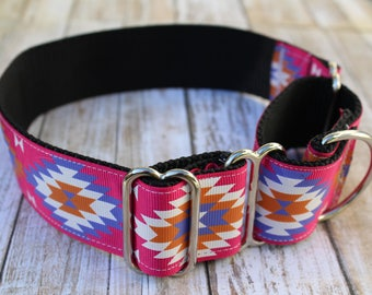 Tribal Martingale Collar - Aztec Dog Collar - Greyhound Martingale - Choker Dog Collar - Greyhound Collar - Tribal Dog Collar