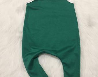 Baby Romper - green Harem Romper - Shorts Romper - Toddler Shorts - christmas romper - holiday Romper - Baby Pants - Toddler Romper forrest