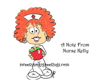 Nurse with apple personalized note cards
