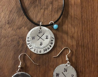 Enjoy the Journey necklace and earring set