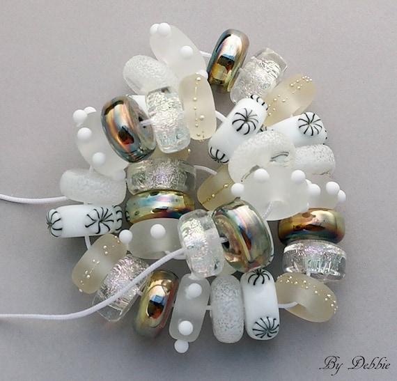 Handmade Lampwork Beads Lampwork Handmade Glass Beads For Jewelry Statement Necklace Bead Bracelet Jewelry Set White Beads Debbie Sanders