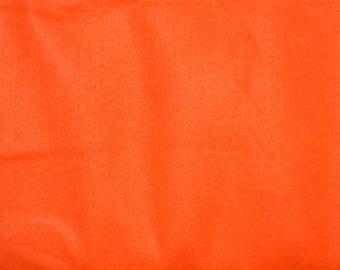 "Bright Orange Felt 72""W Halloween Fall Craft Pumpkins Leaves Jack-o-lanterns Costumes Banners VTG Fabric SBTY"