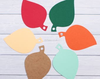LEAF SHAPED Gift tags / blank wedding labels / coloured and kraft HEARTS / favours  / autumn labels / leafs / blank labels