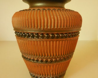 Vintage Brown Clay Germany Textured Pottery