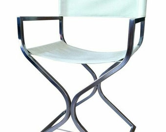 Vintage Director Chairs Pair White / Dining Chair (4) Available Sold Twos