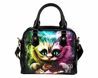 Alice in Wonderland Cheshire Cat Tim Burton Shoulder / Hand Bag