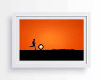childhood silhoutte . Downloadable print.