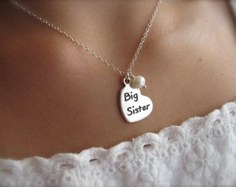Big Sister Necklace - Big Sister Gift - Sister Jewelry - Sister Necklace - Big Sister Jewelry - New Big Sister - Pregnancy Announcement
