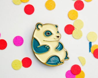 panda enamel pin, kawaii panda bear pin, backpack pins cute panda gifts, baby panda jewelry, cute animal pin, panda brooch, soft enamel pin