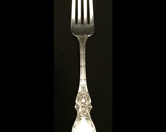 "FREE SHIPPING-Beautiful-Antique-Lucerne-Wallace-Sterling Silver-Not Monogramed-7""-Dinner Fork"