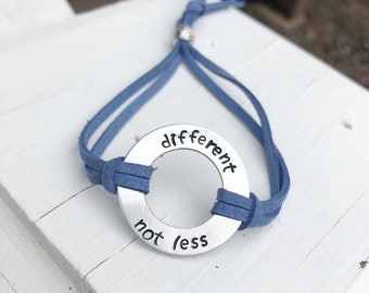 Different Not Less Bracelet - Autism Awareness Jewelry - Austism Bracelet