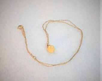 Sarah Coventry White Rose Bead Pendant Gold Filled Necklace