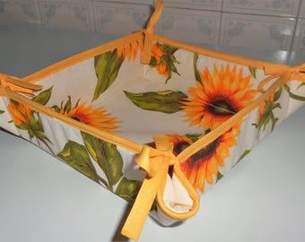 Storage basket or low-fabric bread box