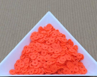 Glitter neon orange 4 mm in bulk