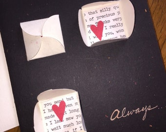 Always - Blank Card - Black, Red, White - Hearts