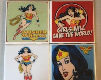 Wonder Woman coaster set