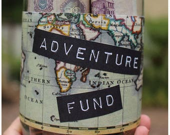 Adventure Fund | Travel Gift | Piggy Bank | Holiday Fund | Savings Jar | Travel, Wanderlust, Money box, Travel Fund | Savings, Gift for her