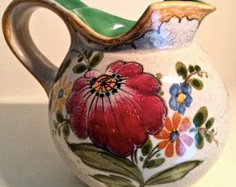Royal Gouda Art Pottery Pitcher 2654 Bertino Pattern Holland