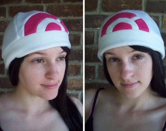 Dawn Pokemon Hat and Pokemon Go Hat- Fleece Hat Adult, Teen, Kid - Christmas Gift, Holiday Gift, or a winter, nerdy, geek gift!