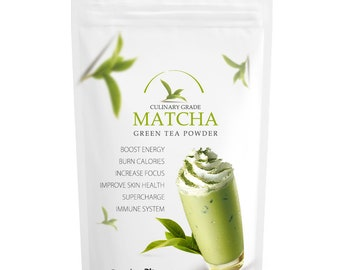 Traditional Matcha (16oz) 100% USDA Organic | All-Natural Perfect for Beginners, Ideal for Lattes & Frappes | Free 1-3 Day USA Shipping