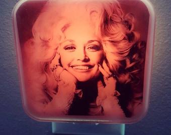 Dolly Parton Night Light, Country Music, Retro decor, 60s, 70s, Dollywood, Pink decor, Plug in night light, Wall art, Pop culture, Nashville