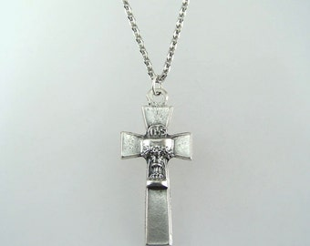 Holy Communion Cross Necklace with Your Choice of Chain