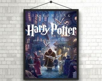 Harry Potter and rhe Sorcerer's stone Artwork Book Poster