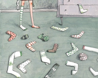 Scattered. Fine Art Illustration Print