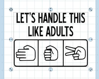 Lets handle this like adults... rock, paper, scissors svg