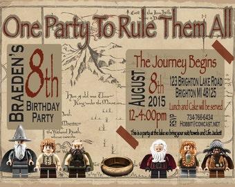 Hobbit Birthday Invitation