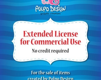 Extended Commercial use, no credit required License by Polpo Design.