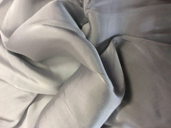 Genuine silver grey sateen fabric