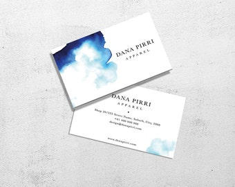 Business card template | Photoshop watercolour business card | pre-made digital download