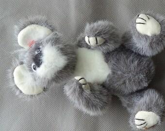 TY Beanie Babie ,Beanie Babie bear ,Koala Bear , Stuffed Bear ,  Ty Bear ,Made in china,  Movable arms and legs , Gray stuffed Animal ,