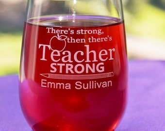 Personalized Engraved Teacher's Glass, Teacher Graduation Gift, Teacher Appreciation Gift, Principal Retirement Gift