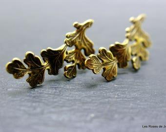 Leaf art deco earrings, dangle earrings leaf