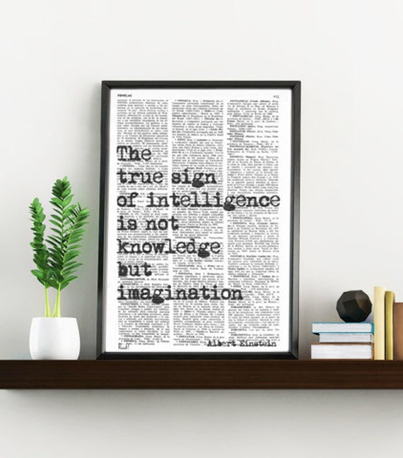 Albert Einstein INSPIRATIONAL Quote Print, Gift, MOTIVATIONAL College Dorm Poster print - house wall art- Poster print TYQ006