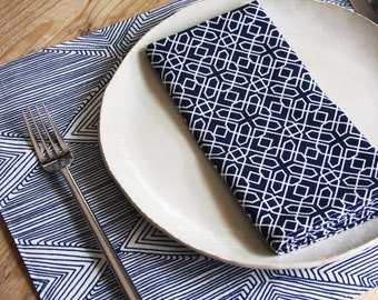 Placemats - Set of 2 - Navy Linea