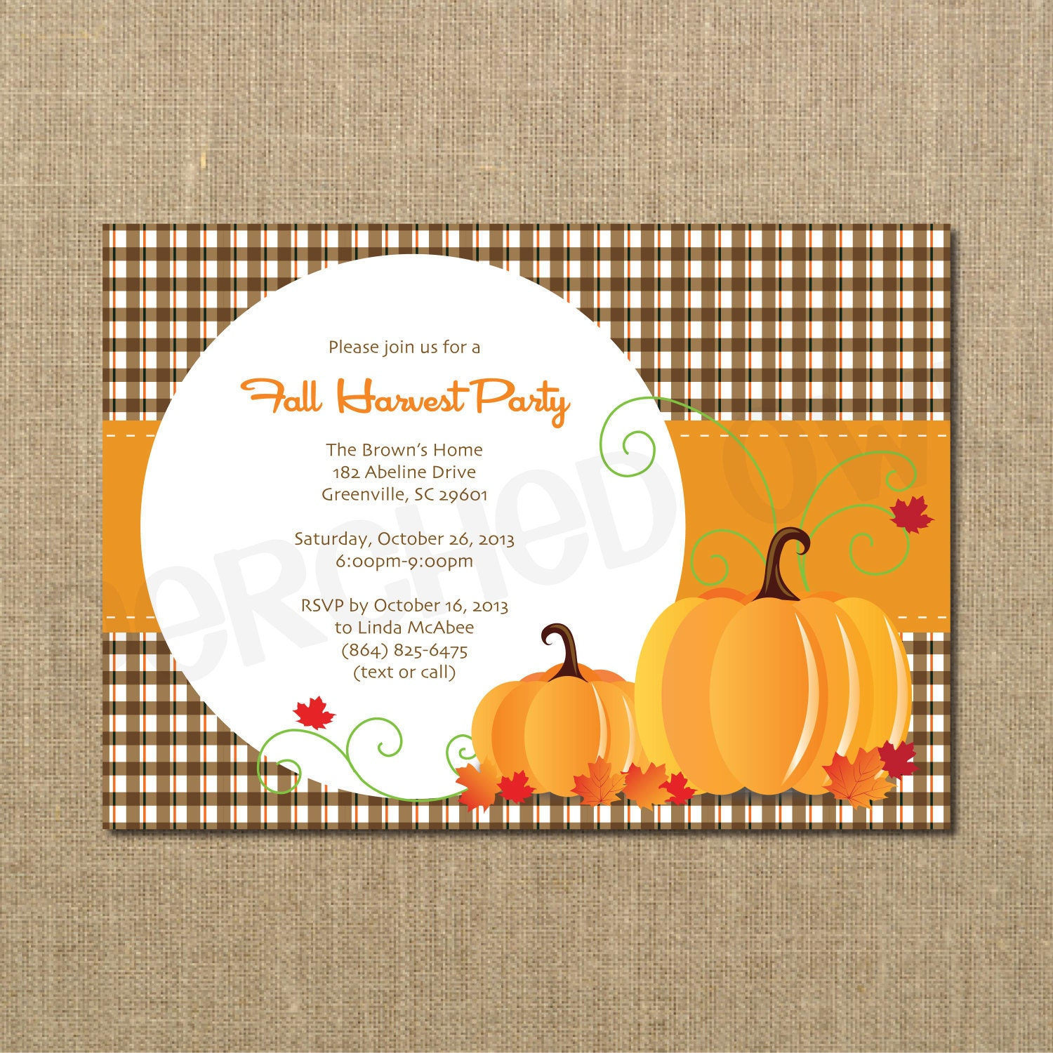fall harvest party invitations Minimfagencyco
