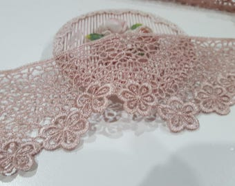 1Yard- Netting Flowering Lace/NV150- Loopy Flowering Lace/ Venice Lace