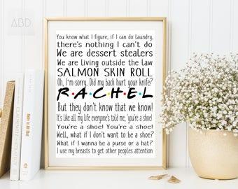 Friends Rachel, Friends Rachel tv, Rachel green printable, Rachel print, Rachel quote, Rachel green, Rachel green quote, Rachel friends