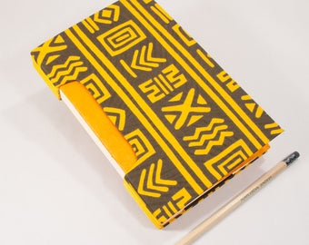 Hand Bound Journal / Notebook / Diary / Handbound Book / Rigid Fabric Cover / WISE Zambia / African Fabric