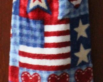Stars, Stripes & Hearts Crochet Top Towel